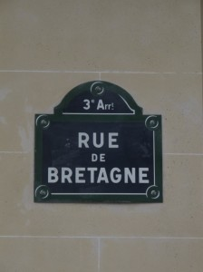 Bretagne street sign