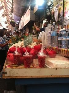Jerusalem market pomegranate