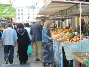 Aligre market street Paris