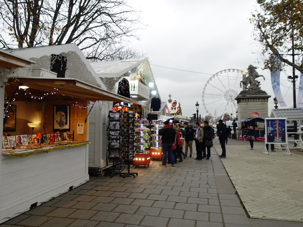 Paris Christmas Market Daytime