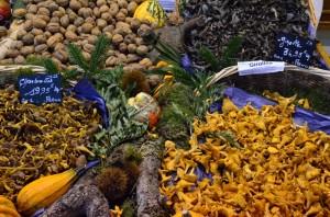 Rouen market mushrooms