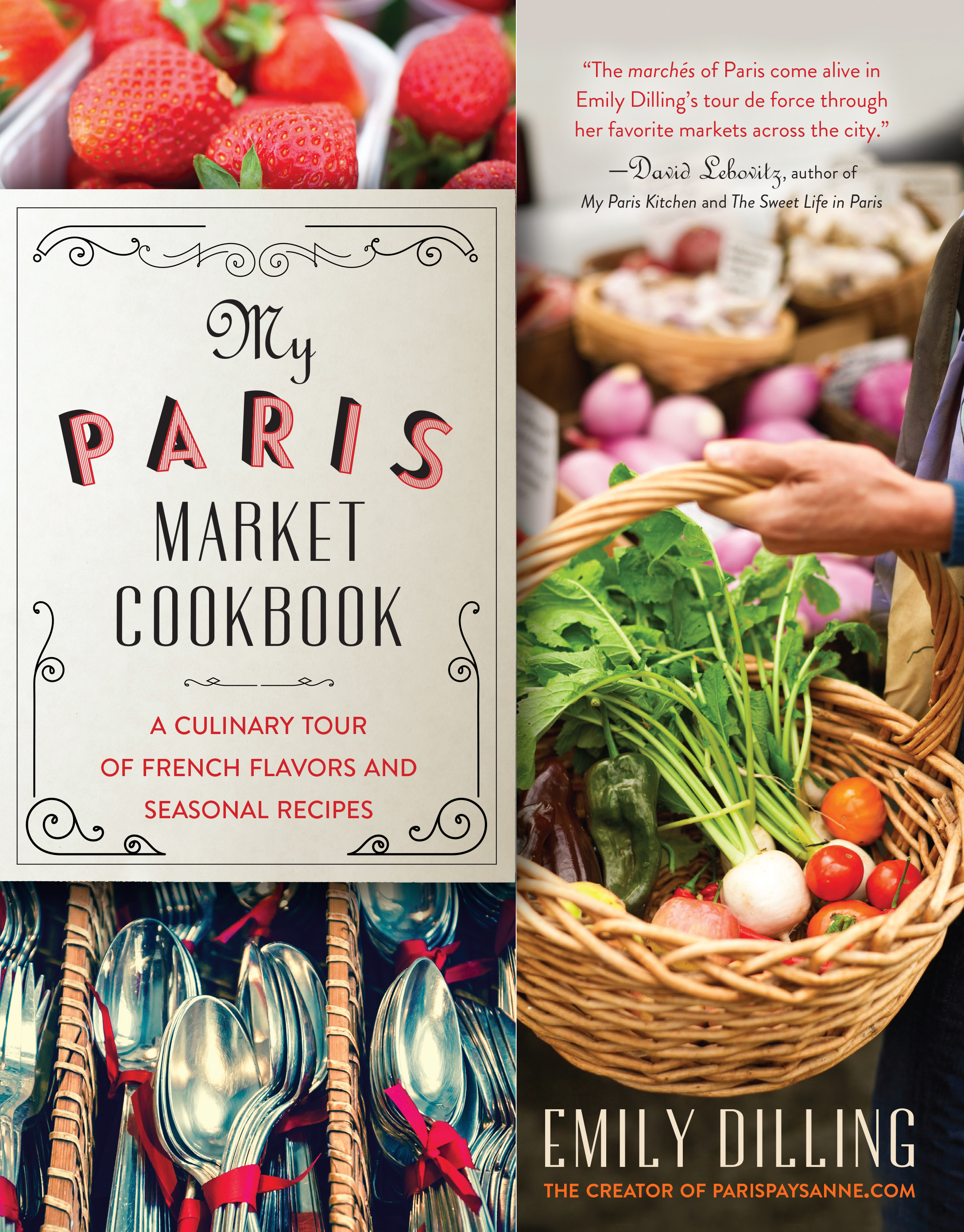 My paris market cookbook marjorierwilliams book jacket emily dilling forumfinder Images
