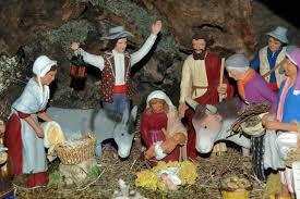 Nativity scene with santons