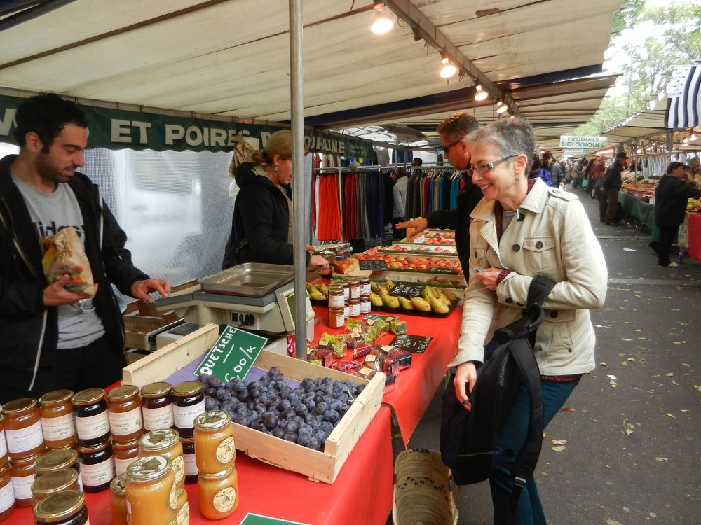 President Wilson market in Paris