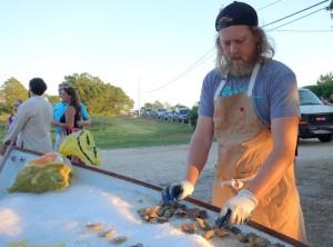 Island Creek Oysters at James Beard Foundation dinner