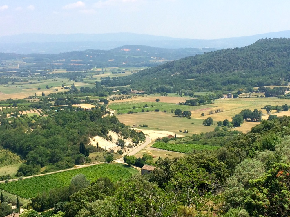 view of Luberon from Gordes