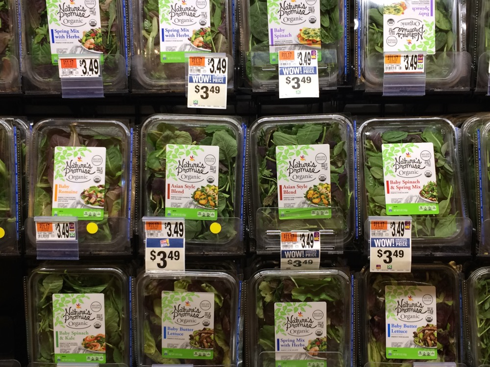 lettuces at supermarket