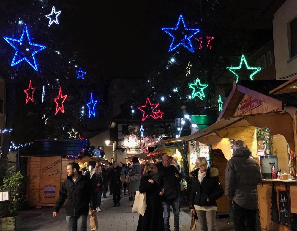 Strasbourg Christmas market lights