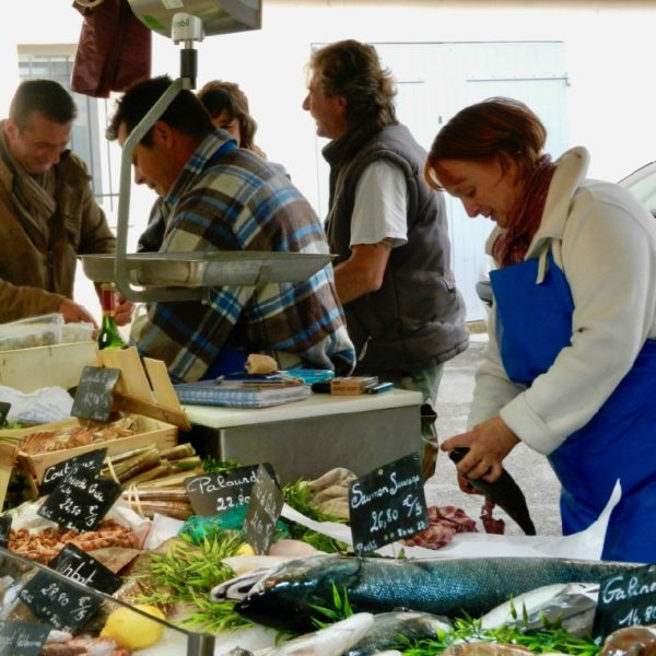 Fishmonger at Lourmarin market