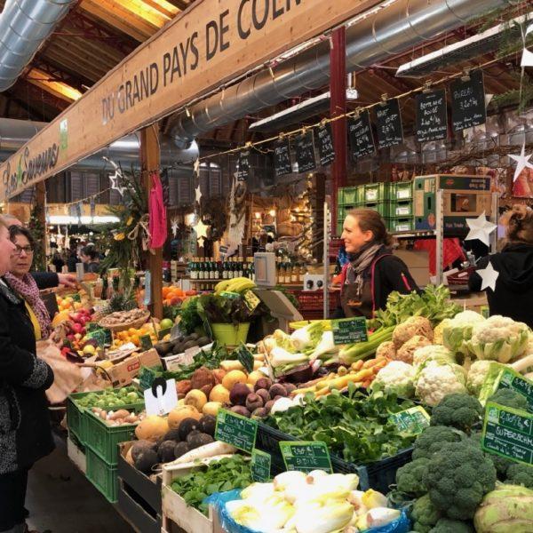 Veggies at indoor Colmar market