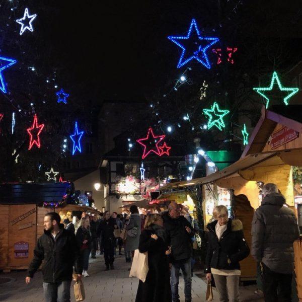 Stars at Christmas Market in Strasbourg
